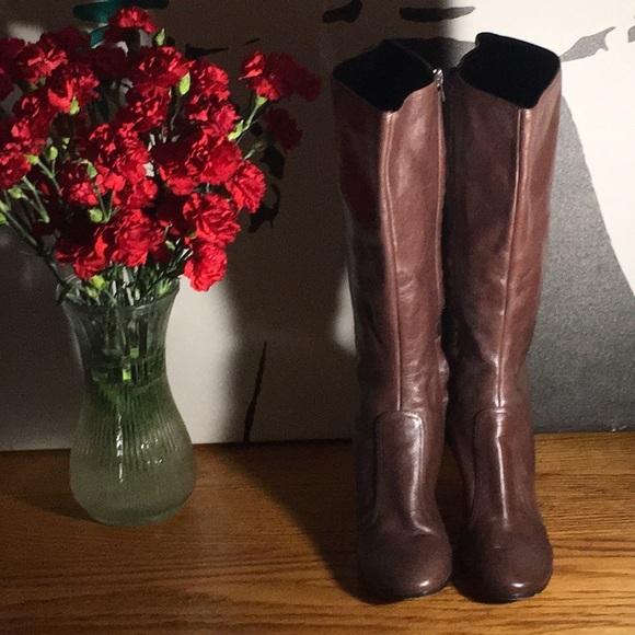 267177883cd Zoe Wittner Brown Knee High Boots